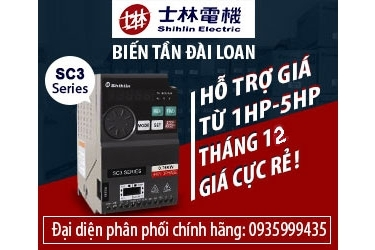 Khuyến mãi giảm giá biến tần Shihlin tháng 12-2017